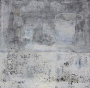 Sans titre - Techniques mixtes / Collage / Encaustique sur toile - 120 X 120 cm