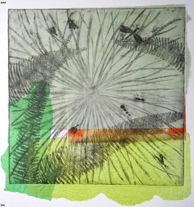 2-Relyveld Martine, Insectes au vert, 30X30cm