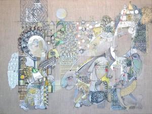 Offrandes - 81 x 60 cm - Technique mixte