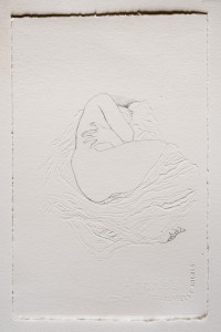 Cut#1 - dessin et découpe au scalpel sur papier Arches 320g. 20x30 cm. 2017