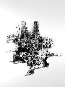 Syria#1, composition par procédé sérigraphique, 110x90, 2014